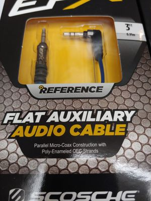 Audio accessories : ( total 2 ) 2 EFX SCOSCHE auxiliary cable 3 feet for Sale in Bell Gardens, CA
