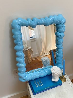 Puffy Blue Accent Mirror for Sale in Brooklyn, NY