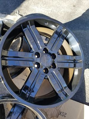 "22"" GM geniune stock black wheels factory rims NEW! for Sale in Bolingbrook, IL"