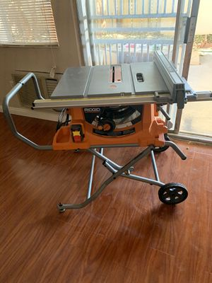 RIDGID 15 Amp Corded 10 in. Heavy-Duty Portable Table Saw with Stand for Sale in Garden Grove, CA