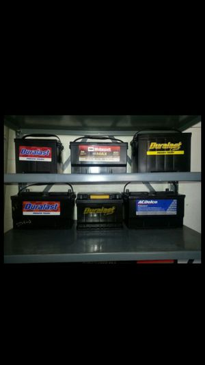 Seminew car batteries not rebuilt only brands SOLO MARCAS ORIGINALES for Sale in Los Angeles, CA