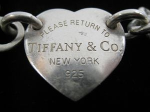 "Authentic Tiffany & Co Sterling Silver Heart Tag Choker Necklace 15.5"" for Sale in Los Angeles, CA"
