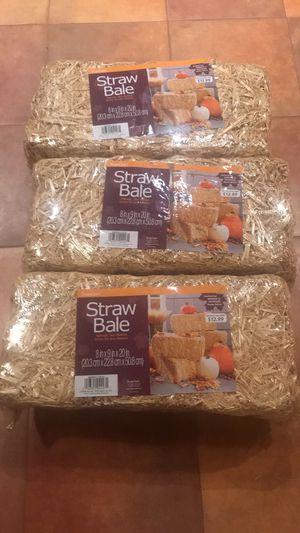 3 new deco bales of straw $15 for Sale in Virginia Beach, VA