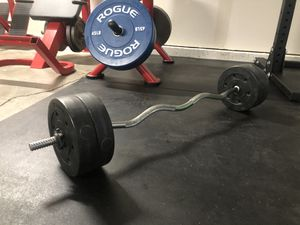 "Curl bar, 1"", 40lbs included for Sale in Paramount, CA"
