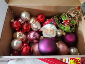Shoe box of Christmas Ornaments for Sale in Lakeland, FL