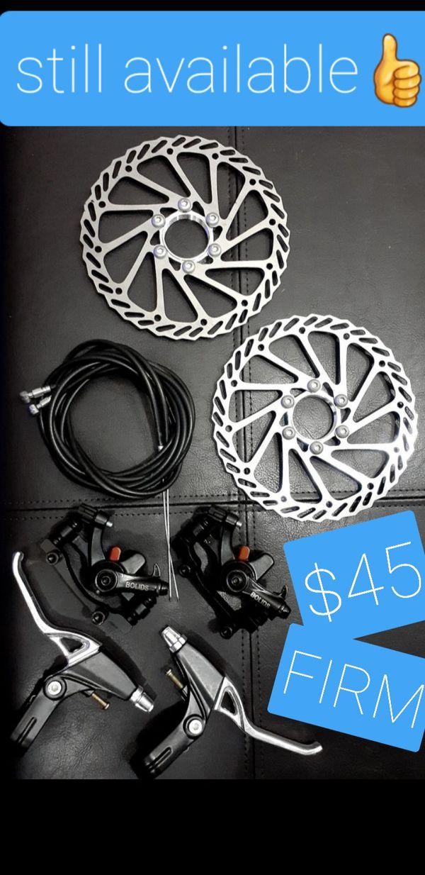 Bike disc brake set for mtb bmx road bicycle, Bike Shop Retail $167 - NEW fits all mountain bike hybrid dj dirt jumper bmx & more, Complete Set