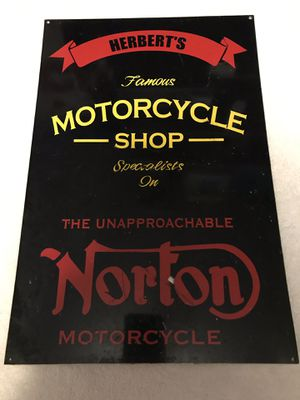 Norton motorcycle metal sign for Sale in Livermore, CA