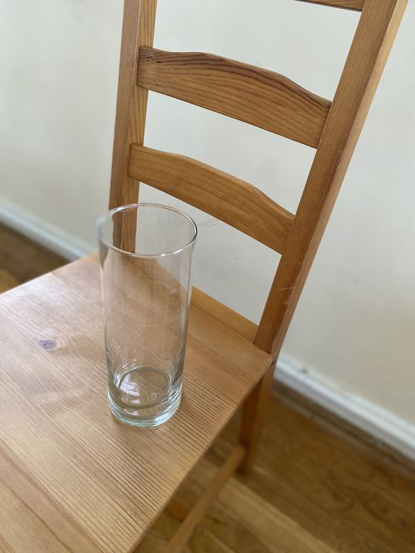 Glass Cylinder Vase Clear