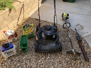 Lawn care total package mower weed wacker and more for Sale in Murrieta, CA