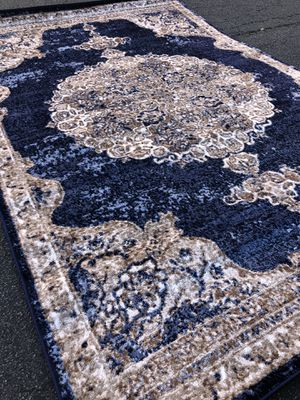 New blue rug size 5x7 nice navy blue carpet rugs for Sale in Fairfax Station, VA