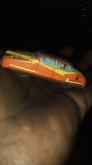 1950's Made in Japan Toy Tin Friction Car, Red And Yellow, for Sale in Maben, MS