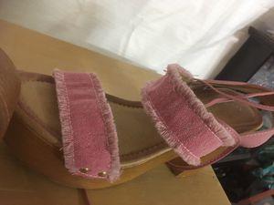 Pink denim sandals size 7 for Sale in Arlington, TX