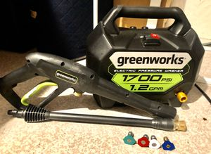 Greenworks 1700PSI 1.2GPM Pressure Washer NEW CONDITION for Sale in Tracy, CA