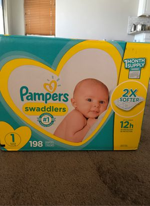 Pampers Swaddlers size 1 for Sale in Chandler, AZ