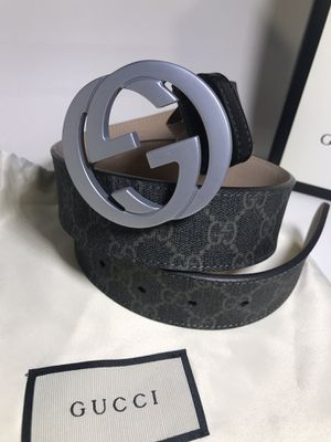 Gucci Black GG Supreme Belt (Buy Now & Get A Free Pair Of Gucci Socks!) for Sale in Queens, NY