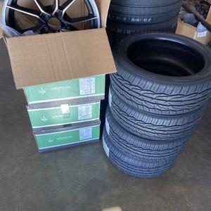 Tires (Toyo Extensa HP 215-45-17) Rims V18 Verve Size 17 Satin Black for Sale in Pomona, CA