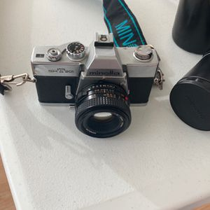 Minolta SrT201 Film Camera, With 2 Lenses for Sale in Brooklyn, NY