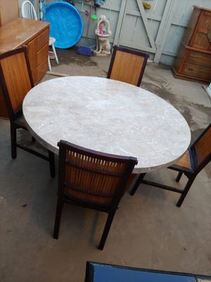 Marble table with chairs for Sale in Clovis, CA