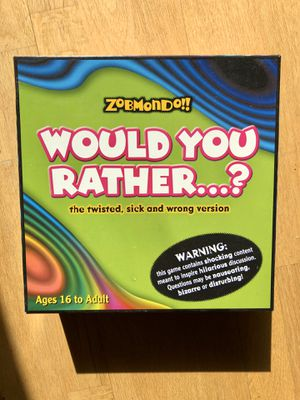 Would You Rather Board Game for Sale in Minneapolis, MN