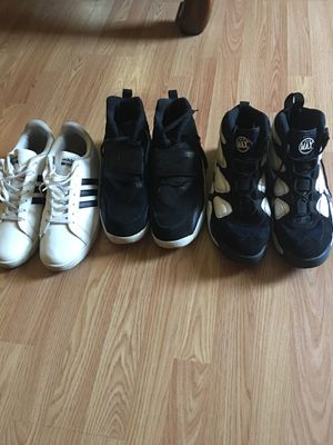shoes size14 2 Nike Air and 1 adidas for Sale in St. Louis, MO