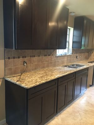 Granite top for kitchen bathroom island tables ext. starting to $29.99 square foot for Sale in Houston, TX