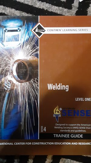 Nccer welding training book for Sale in Loganton, PA