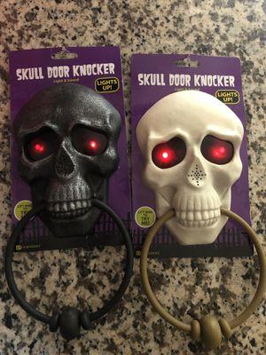 Talking Halloween skull door knocker for Sale in Lynwood, CA