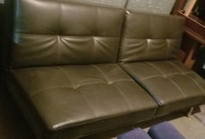Leather Futon Sofa Bed for Sale in Orange, CA