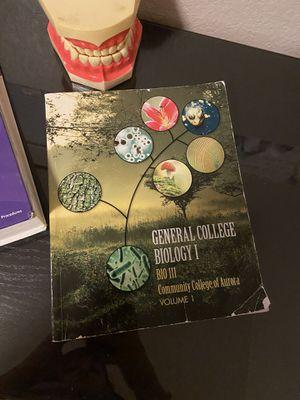 General college biology 1 bio 111 textbook for Sale in Aurora, CO