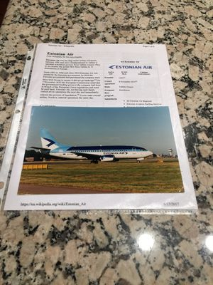Estonian Air color enlargement for Sale in Los Angeles, CA
