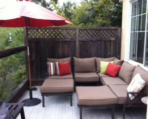 New!! 7 pc Sectional Patio set, conversaion set, outdoor furniture set, Patio Furniture , tan for Sale in Phoenix, AZ