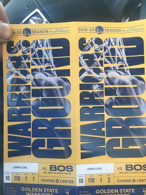 Warrior tickets for Sale in San Leandro, CA