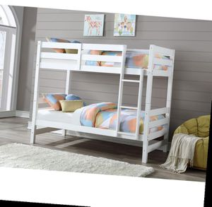 Bunk Bed (Twin/Twin) - 37785 - White/brown CM for Sale in Diamond Bar, CA