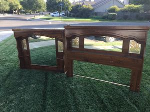 Free matching headboard and hutch dresser top for Sale in Turlock, CA