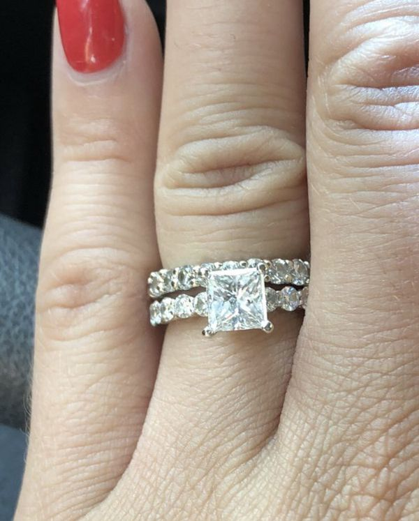 3 ct. Engagement and wedding ring, diamond
