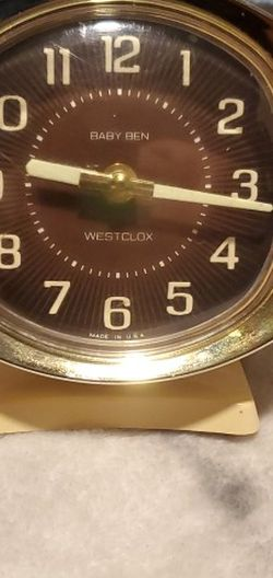 Vintage Westclox Baby Ben Wind Up Alarm Clock Antique for Sale in San Antonio,  TX