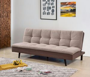Pillow Top Click-Clack Sofa Bed with Removable Washable Cover, Light Brown for Sale in Santa Ana, CA
