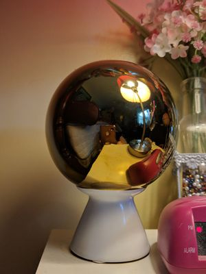 Gold Tone Crystal Mirror Ball with White Ceramic Base for Sale in Manassas, VA
