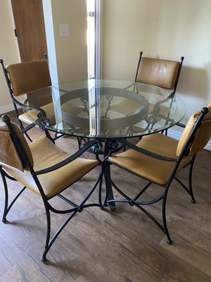 Wrought Iron Dining Table & Chairs - High End for Sale in Del Mar, CA