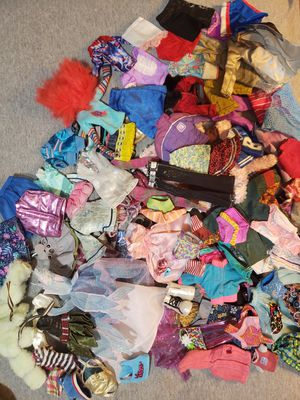Barbie bratz doll clothes lot for Sale in Sacramento, CA