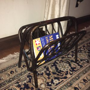 Small magazine rack living room organize decor for Sale in Bethlehem, PA
