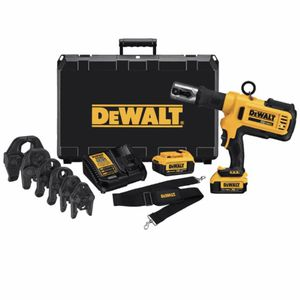 DEWALT 20-Volt MAX Lithium-Ion Cordless Copper Pipe Crimper Kit with (2) Batteries 4Ah, Charger and Case for Sale in Hayward, CA