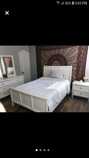 Full size bedframe no mattresses or box spring dresser and nightstand for Sale in Chula Vista, CA