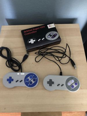 SNES USB controllers (2) for Sale in Fontana, CA