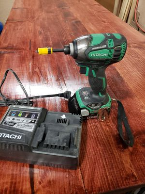 Hitachi Triple hammer drill battery and charger for Sale in Redford Charter Township, MI