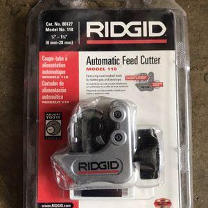 RIDGID 86127 Model 118 Close Quarters Tubing Cutter, 1/4-inch to 1-1/8-inch Tube Cutter for Sale in Glendora, CA