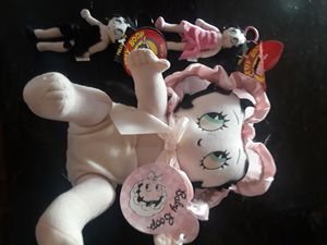 Collectible new with tags Betty Boop plush toy and two kellytoy Betty Boop keychains for Sale in Hawthorne, CA