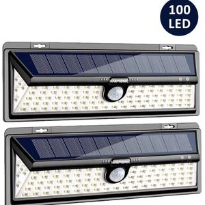 Solar Lights Outdoor, 100 LED Motion Sensor Light with 270° Wide Angle, 3 Optional Modes IP65 Waterproof Solar Security Wall Lights for Garden, Front for Sale in Chino, CA