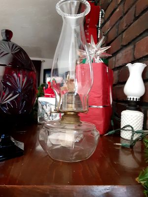 Vintage oil lamp glass for Sale in Worcester, MA