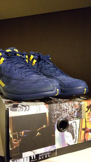 Jordan 12 michigans size 8.5 or 11 for Sale in Silver Spring, MD